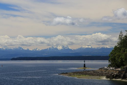 Looking back at Vancouver Island from Cortes Island