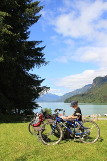 We hired bikes for a day in Haines