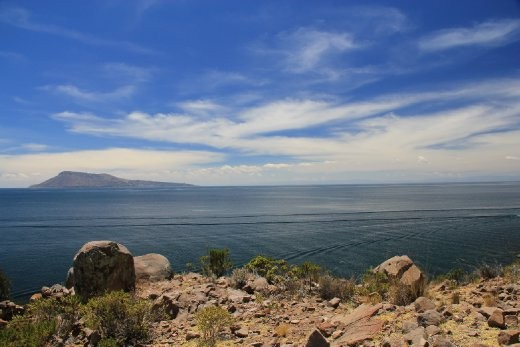 Another island in Lake Titicaca...this one doesn't float