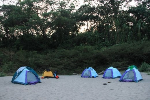 Our second campsite along the river, lots of super vicious sandflies