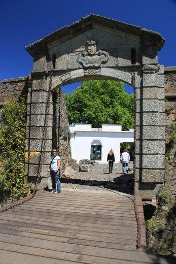 old wall and drawbridge at Colonia