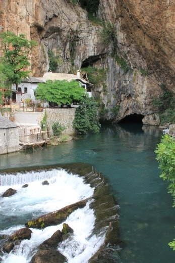 Blagaj....20 cumecs coming out of a cave