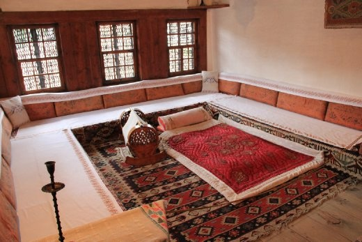 Lounge in traditional Bosian muslim house