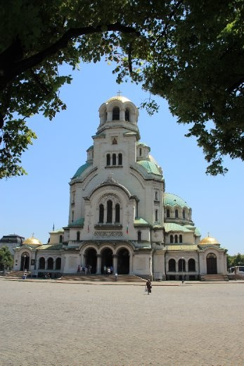The big cathedral in Sofia