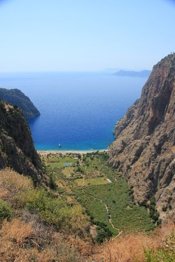 Looking down on Butterfly Valley