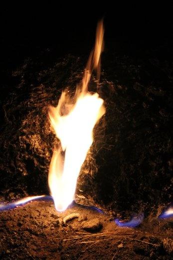 Chimaera flames near Olympos