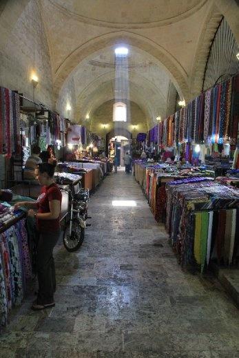 Buying more scarves in Urfa bazaar