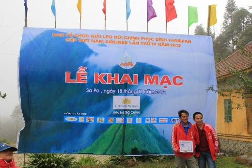 The winner of the Mt Fansipan race