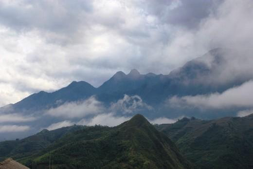 mountains around Sapa