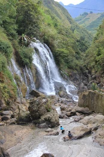 Waterfall near Cat Cat village