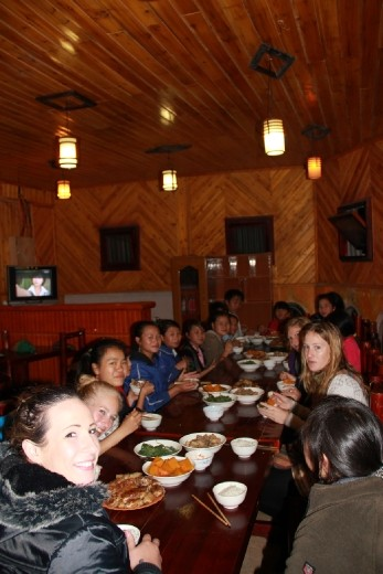 dinner with the students
