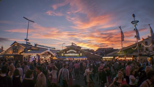 Sunset at Oktoberfest