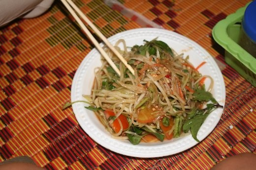 spicy salad at night market... as