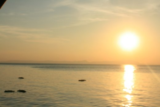 First sunset in Kep...
