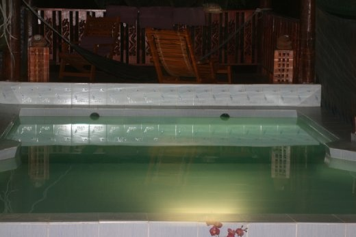 Pool at Darling... never used, even during the day, because it sits in the shade and stays oh so cold!