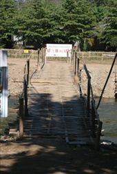 A rickety but really strong bamboo bridge we took when going by foot from Darling to/from town.: by christa_spencer, Views[233]