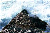 The waves throw themselves violently against ancient rock.: by christiancasimir, Views[199]