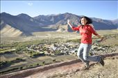 Jumping in front of Samye Monastery after having climbed Mount Hepori.: by cici, Views[733]
