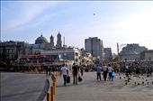 The roads in Taksim Square remain empty while pedestrian tourists (since local Turks were banned from the square) filter around the police blockades.: by cici, Views[358]