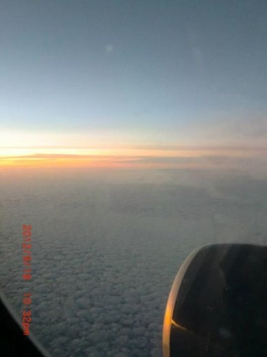 Breaking dawn. Flying towards a new place, adventure, and life. So nervous, yet, excited.