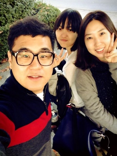 My Korean friends and I. But they both went back to Korea now :(
