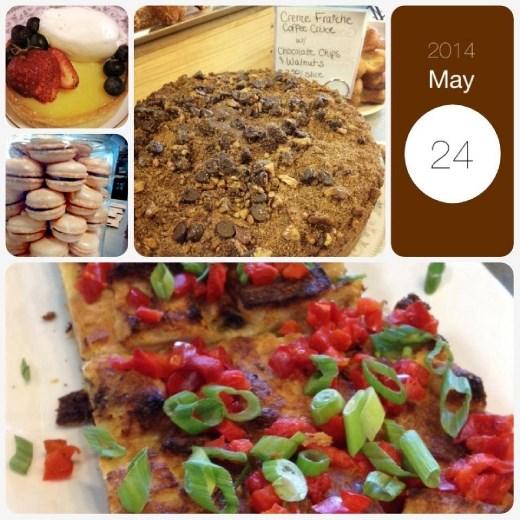 Savary tart, macarons, coffee cake... this is so delicious!