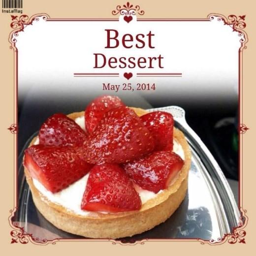 Strawberry tart with vanilla! Yum yum!