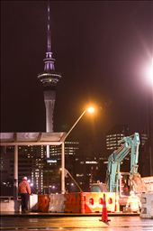 Auckland always has construction work somewhere in the city, usually this happen: by civic, Views[217]