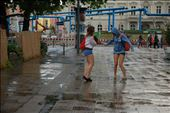 There wasn't a soul in the streets because there was an important football match. It had started raining, these two were dancing under the rain.: by claradrp, Views[129]
