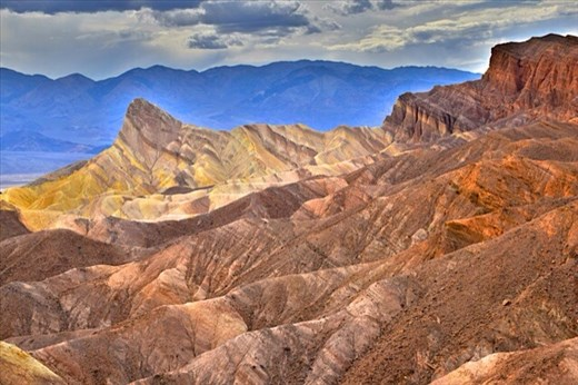 Death Valley - view from Zabriskie Point (it really did look like this!)