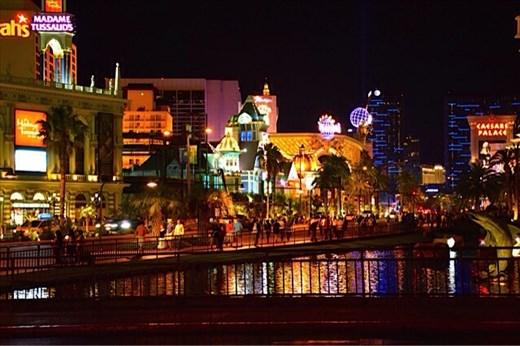 The bright lights of Vegas