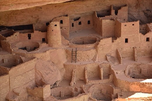 Cliff dwellings of the Ancient Puebloan Indians at Mesa Verde