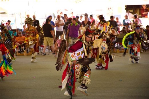 Flathead pow-wow dancing competition