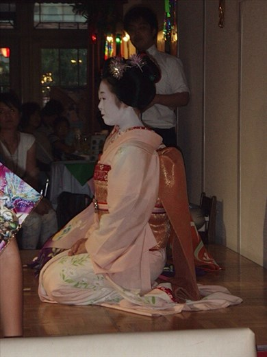 Maiko (apprentice geishas) dancing in Kyoto