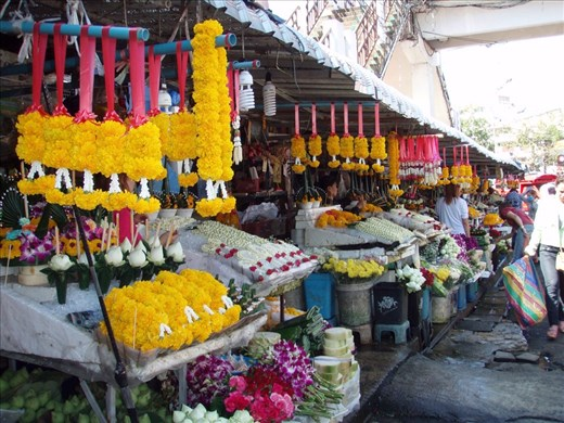 Flower market with festival flowers