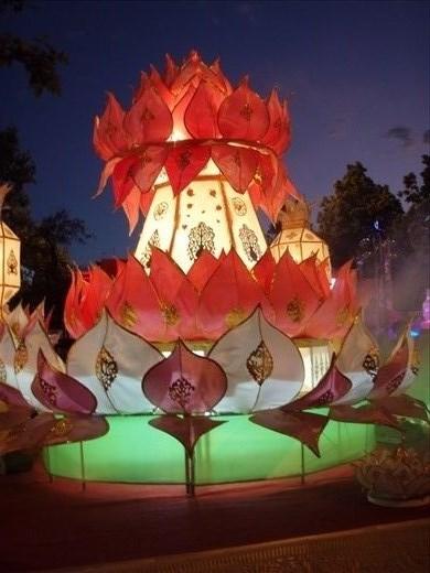 Giant krathong decoration