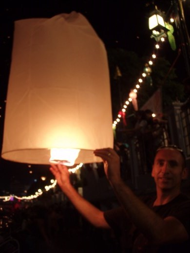 We light our lantern of hopes and dreams