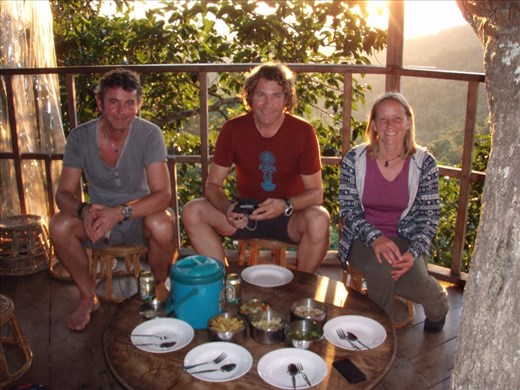 Treehouse dinner with our new friends