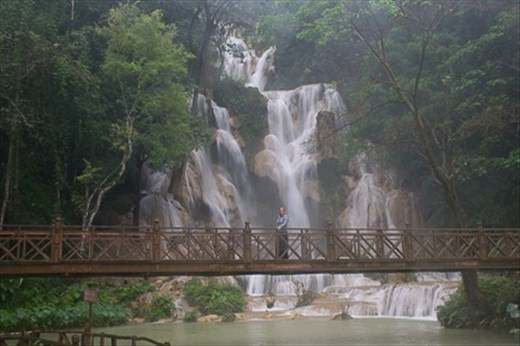One of the beautiful waterfalls at Kuang Si, near Luang Prabang