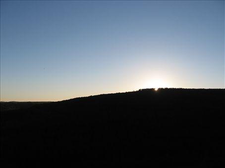 Sunset over woods, Bourgogne...