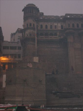 The ghats early in the morning