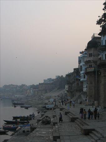 The main Ghats on the river Ganga