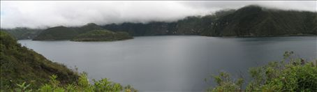 Cuicocha in the clouds