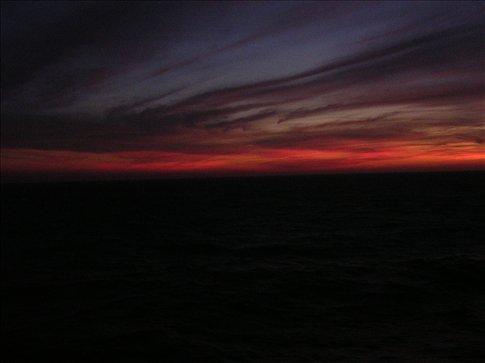 O por do sol visto do barco / the sunset from the ship