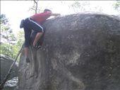 Topping out an orange problem at Aprement. Fun.: by climberchris, Views[305]