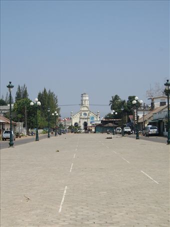 the busy town of Savannakhet
