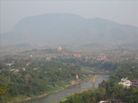 the view of Luang Prabang from Phu Si