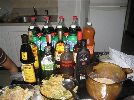 Parties in the Philippines ain't complete without lots of food and booze!