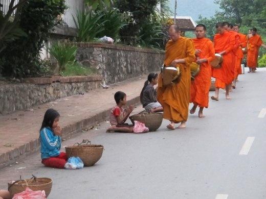Luang Prabang morning monks