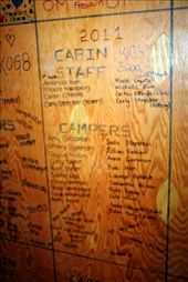 The Graffiti Plaque in our Cabin: by cokeeffe, Views[116]